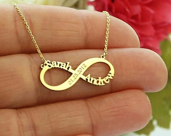 Custom Infinity Necklace-Infinity Necklace-Gold Necklace-Infinity Name Necklace-Personalized-Bridesmaid Gift-Necklaces-Gift-Custom Necklace