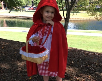 Little Red Riding Hood dress and hooded cape