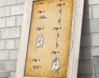 Star Trek Pin Art Print - 11x14 Unframed Patent Print - Great Gift for Trekkies