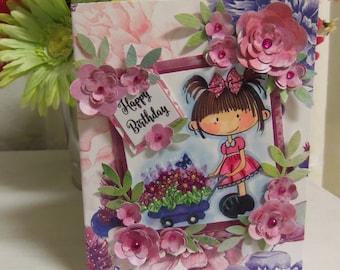 Birthday Card, Happy Birthday Card, birthday, Happy Birthday, girl, women