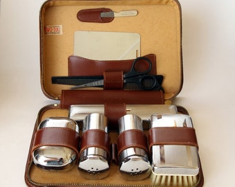 Men's TWO-TIX Grooming Kit in Leather Case