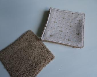 set of 5 wipes powder pink