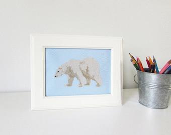Polar Bear - Modern cross stitch pattern PDF - Instant download