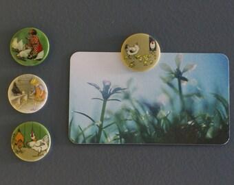 Set of magnets or magnet series hens