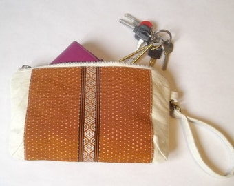 fabric clutch, kimono fabric pouch, zipper clutch, bag in bag, clutch wallet, canvas clutch, cosmetic pouch