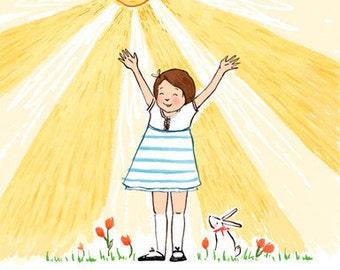 Children's Wall Art Print - I am a Child of God (Girl)