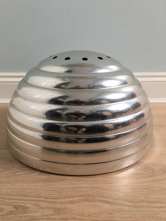 Vintage retro beehive aluminium lightshade circa 1970's