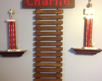 Martial Arts Display for 8 Belts & choice of 9 colors NOW IN HONEYCOMB