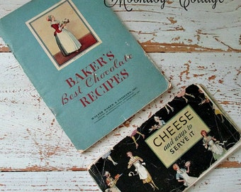 1930's BaKer'S CHoCoLaTe & CHeeSe ReCiPe BooKLeTs