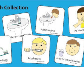 Brushing Teeth Set of Picture Cards