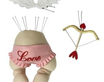 3 Piece Pink White Red Cupid Decor Kit HV9098