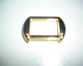 Rectangular dice for fixing shoulder gold plated.