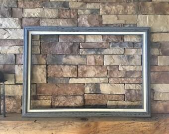 24 x 36 Large Wood Frame- Driftwood