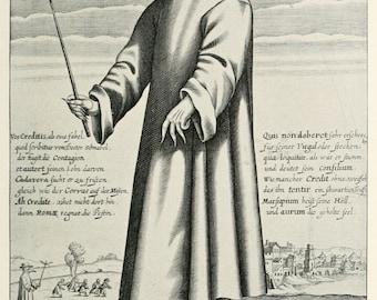 Plague Doctor - tea towel