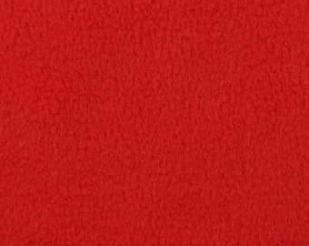 Red Fleece Fabric - by the Yard