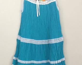 Size 6 hand crochet cotton dress