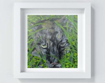 Cat Painting, Wild Cat Print, Wild Cat Art, Cat Wall Art, Wild Cat Painting Print, Wild Cat Artwork, Big Cat Art, Big Cat Painting Print