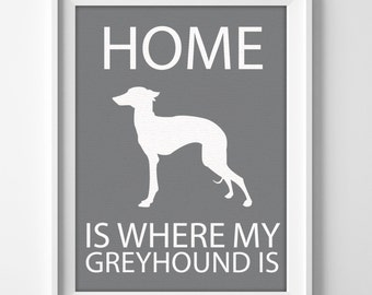 Greyhound Personalized Printable Wall Art Pet Memorial