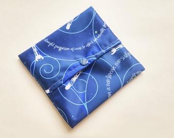 Whovian, Pad wrap, Pad Wrapper, Mini Wet bag, Small Wet bag, Wet Bag, Cloth Pad Wet Bag, Cloth Pads.
