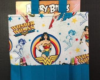 Wonder Woman Crayon Tote