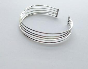 Sterling Silver Cuff Bracelet - Silver Wire Cuff Bracelet - Silver Cuff for Women - Sterling Silver Bracelet - Silver Bracelet Cuff