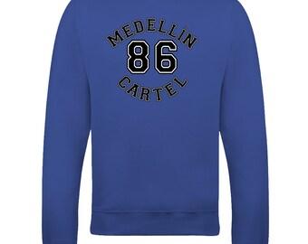 Medellin Cartel 86-  Pablo Escobar drug lord  men's sweatshirt from Fatcuckoo  SW1732