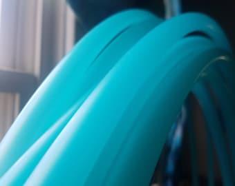 "Aqua Seaglass [translucent] Blue 5/8"" Custom Polypro Hoop"