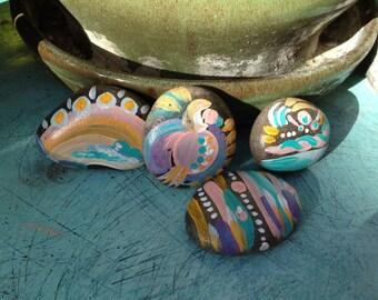 Pretty pebbles pastel hand painted rocks