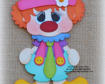 Clown Party Premade Scrapbooking Embellishment Paper Piecing