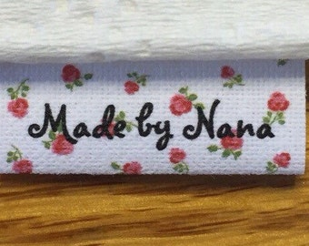 70 precut washable frayless, cotton loop fold sewing labels/tags(3 different designs to choose from) to personalize in a FUN way!