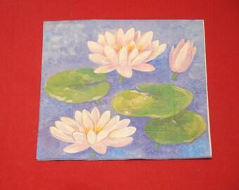 "paper flowers ""lilies"" theme towel"