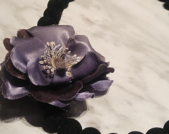 Beaded fabric Flower necklace