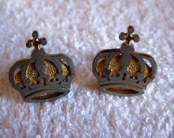 Golden Crown Cufflinks