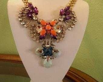 Old Hollywood Glamour, Rhinestone Statement Necklace