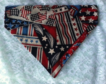 Patriotic Dog Bandanas Small & Medium