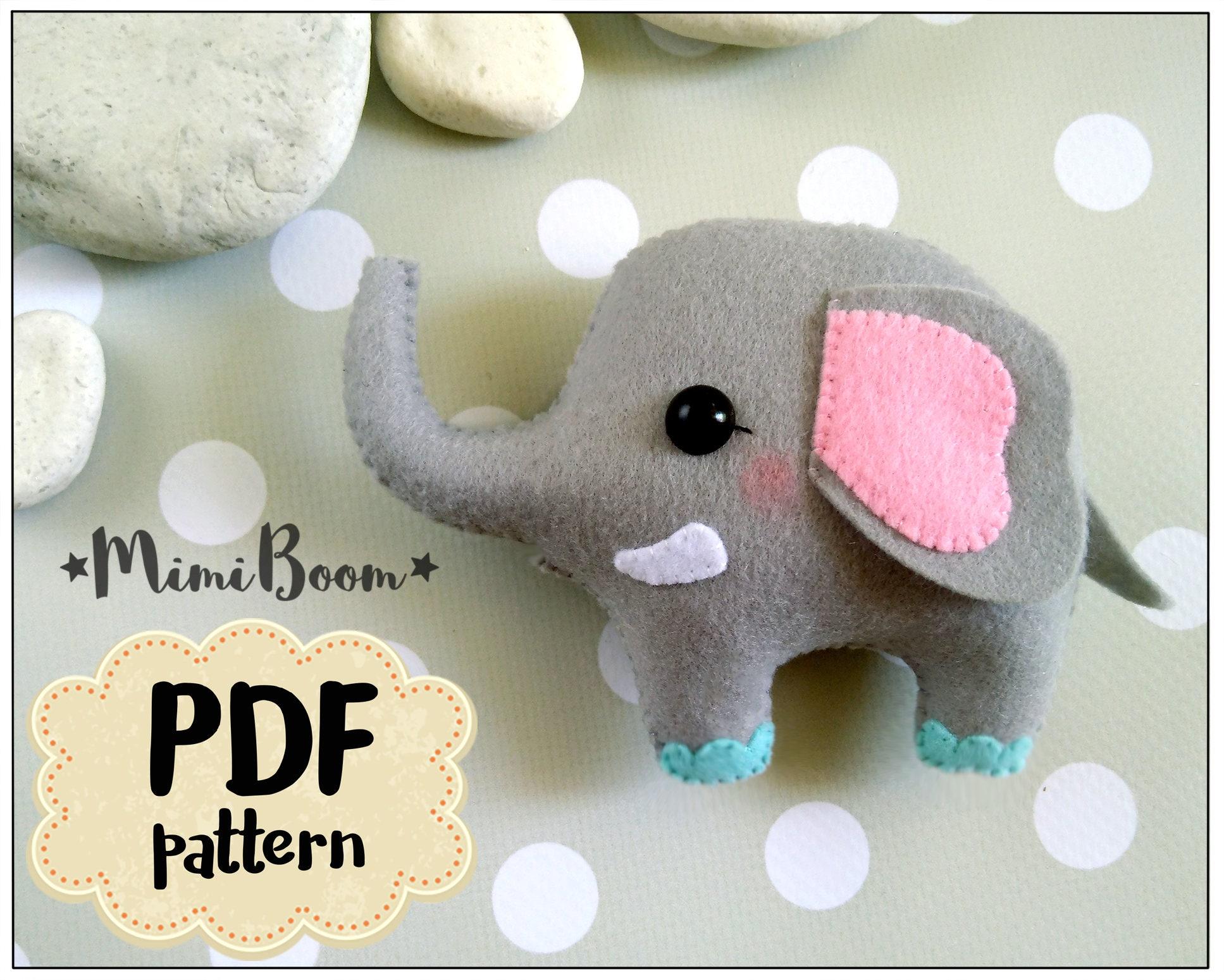 Felt elephant pattern felt sewing elephant pdf tutorial diy agrandir jeuxipadfo Gallery