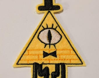 Gravity Falls Bill Cypher embroidered patch