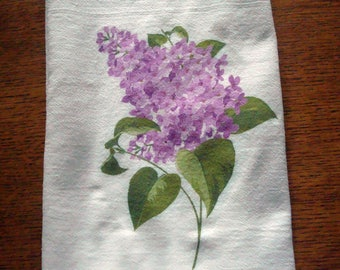 Flour Sack Kitchen Towel Purple Lilac