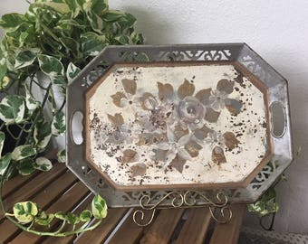 Decorative Rustic Painted Tray