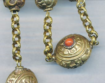 Beautiful HANDMADE BRASS CHAIN 5MM Textured Sold By the Foot-Unsoldered