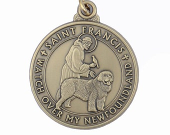 Newfoundland Saint Francis Dog Tag