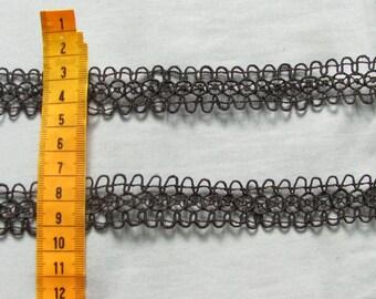 vintage lace 1 meter Black 2.4 cm in height