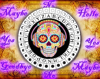 Trippy Sugar Skull Pendulum Board - Digital Download emailed to you
