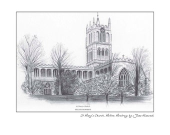 Greeting card - St Mary's Church, Melton Mowbray