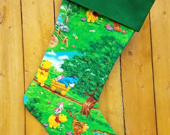 Winnie the Pooh Quilted Christmas Stocking
