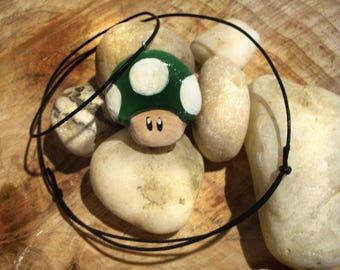 1UP mushroom necklace