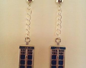 Doctor Who / TARDIS Post Earrings