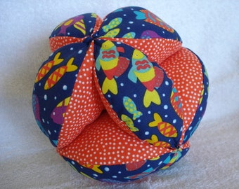 Funky Fish Easy-Catch Baby/Toddler Clutch Ball - Baby Shower Gift