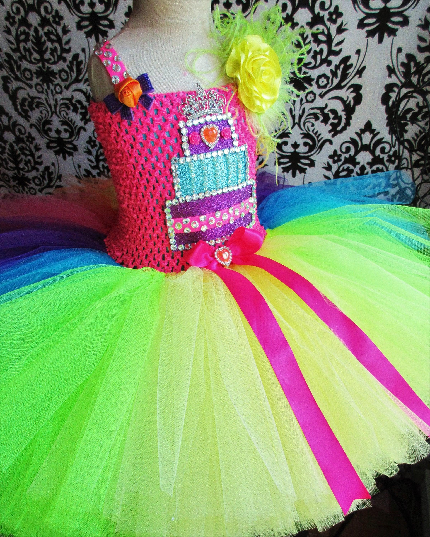 Neon Rainbow Kleid/Neon Kleid/Rainbow Kleid/Neon Circus