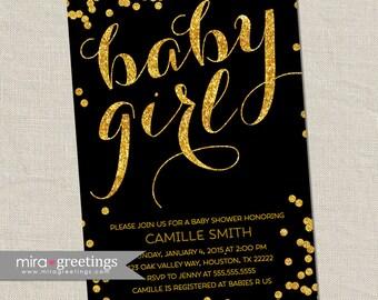 Gold Foil Baby Shower Invitation - Printable Digital File